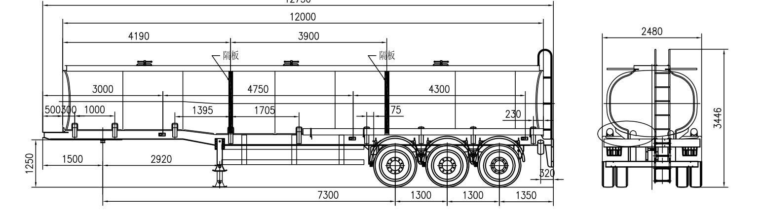 diagram of fuel tanker trailer
